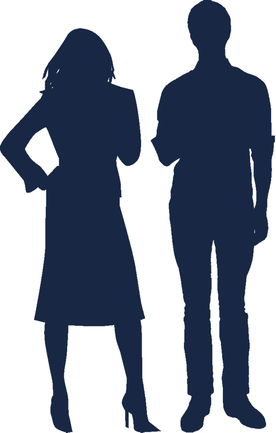 silhouette-woman-and-man