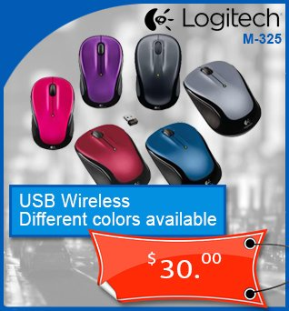 Mice-Souris-Wireless-Sans-fil-Logitech-M325-Diff-Couleurs-30cad-en