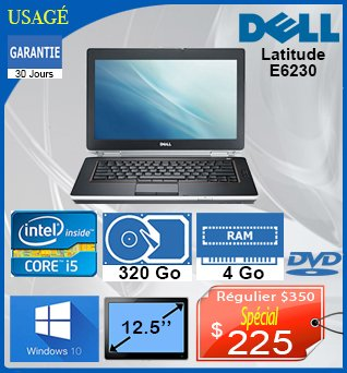 Laptop-Dell-Latitude-E6230-12_5po-i5-320GB-4GB-W10-30Jours-225cad-fr