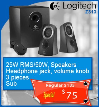Speakers-Logitech-Z313-3pc-Sub-25Wrms_50w-75cad-en