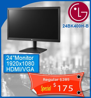 Monitor-LG24BK400H-B-LCD-24in-Wide-1920x1080-175cad-ANGLAIS